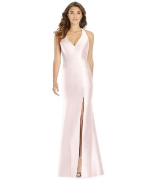 Satin Halter Gown