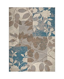 "Haven Hav07 Beige and Blue 3'3"" x 5'2"" Area Rug"