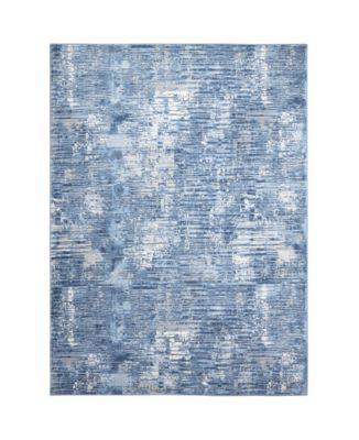 """Barstow Bar02 Blue 6'6"""" x 9'6"""" Area Rug"""