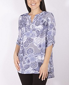Women's Plus Size Slubbed Blouse
