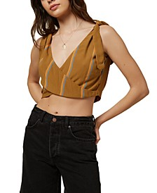 Juniors' Jaxson Striped Crop Top