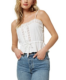 Juniors' Sunbeam Lace-Trim Tank Top
