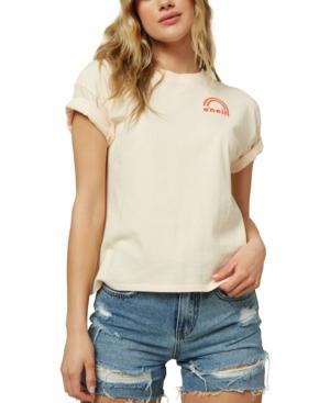 O'neill Juniors' Vibin Cotton Dunes Graphic T-shirt In Vanilla Cream