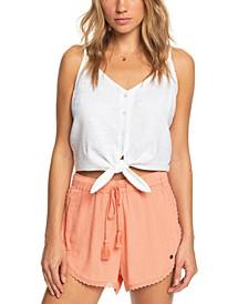 Spring Sparkle Lace-Trim Shorts