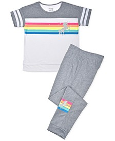Big Girls Rainbow Pajama Set