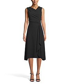 Asymmetrical Drape-Front Dress