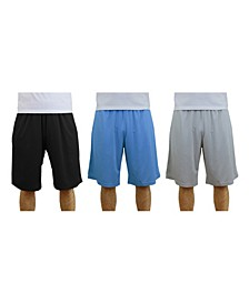 Men's 3-Pack Moisture-Wicking Active Mesh Shorts