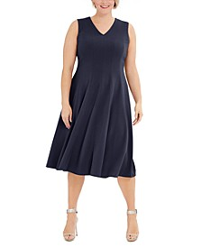 Plus Size Fit & Flare Midi Dress