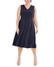 Plus Size Fit & Flare Midi Dress