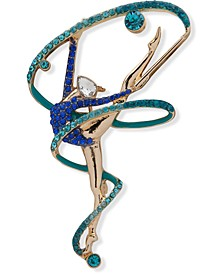 Gold-Tone Crystal Dancer Pin, Created for Macy's