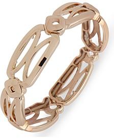 Gold-Tone Openwork Stretch Bracelet
