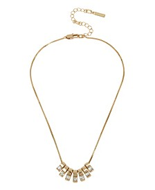Gold-Tone Stone Bar Frontal Necklace