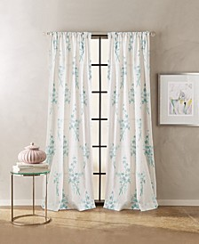 "Spring Blossom 50"" x 84"" Poletop Curtain Set"
