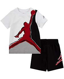 Baby Boys 2-Pc. Jumpman-Print T-Shirt & Shorts Set