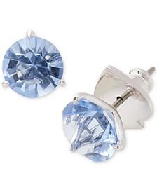 Crystal 3-Prong Stud Earrings