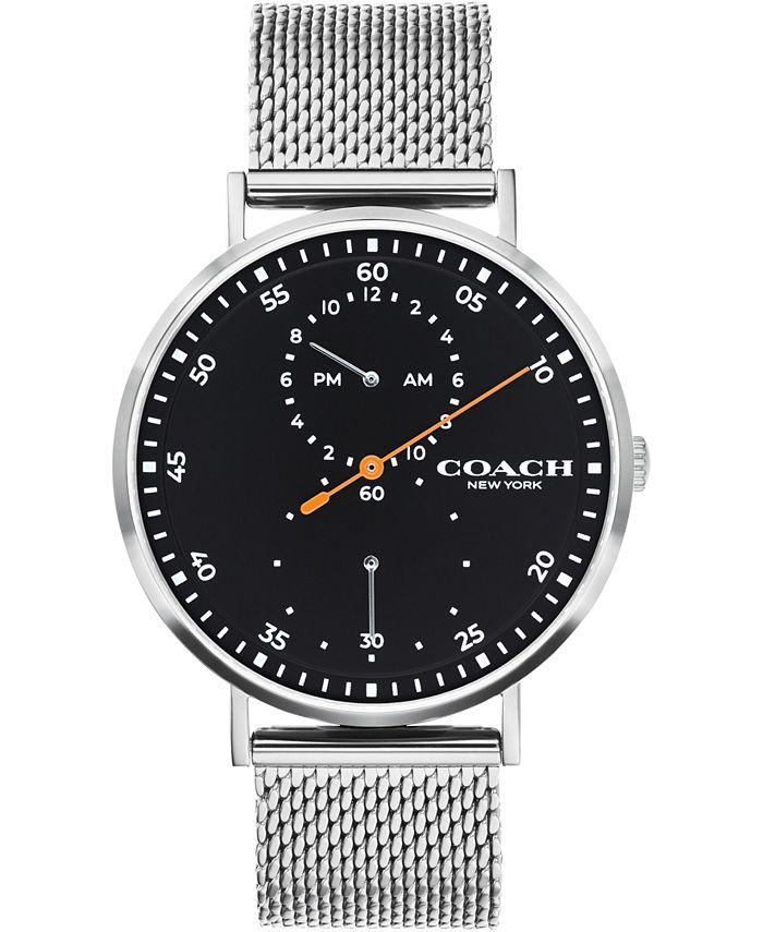 COACH - Men's Charles Stainless Steel Mesh Bracelet Watch 41mm