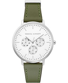 Women's Major Thyme Leather Strap Watch 38mm