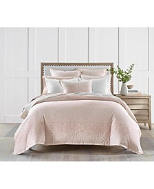 Sleep Luxe Cotton 800-Thread Count 3-Pc. Printed Petal Ombre Twin Duvet Set, Created For Macy's