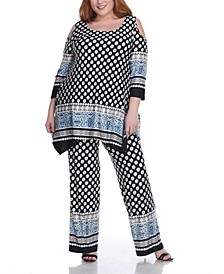 Women's Plus Size Head to Toe Printed 2 Piece Set