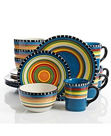 Pueblo Springs 16-piece Dinnerware Set Blue, Service for 4
