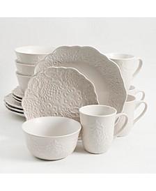 Portina 16-piece Dinnerware Set Linen, Service for 4