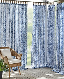 Verena Sheer Floral Indoor/Outdoor Tab Top Curtain Collection