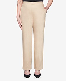 Plus Size Pull On Back Elastic Sateen Proportioned Medium Pant