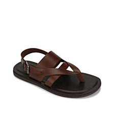 Men's Slip On Sandal with Criss-Cross Upper Adjustable Backstrap