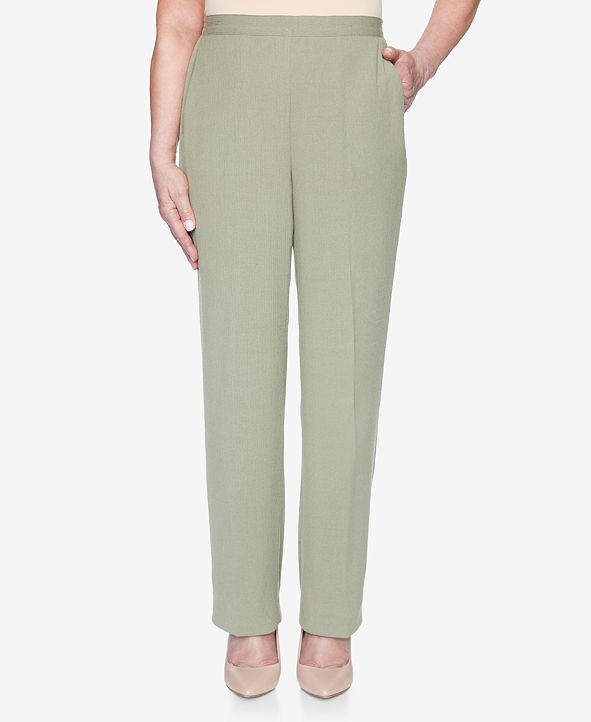 Alfred Dunner Plus Size Pull On Back Elastic Crinkle Proportioned Medium Pant