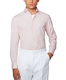 BOSS Men's Jemerson Striped Slim-Fit Shirt
