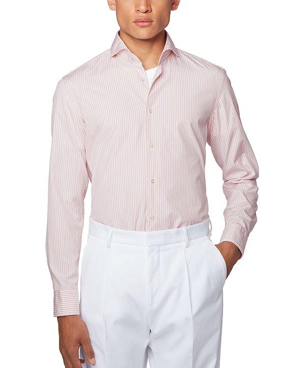 Hugo Boss BOSS Men's Jemerson Striped Slim-Fit Shirt