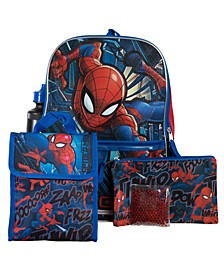 Spiderman Backpack, 5 Piece Set