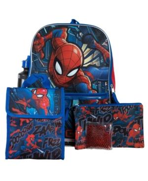 Bioworld Spiderman Backpack, 5 Piece Set