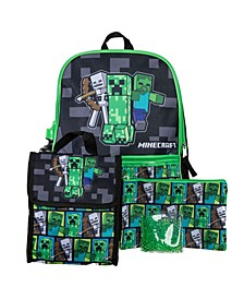 Minecraft Backpack, 5 Piece Set