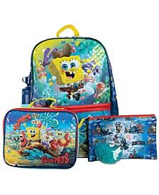 Spongebob Backpack, 5 Piece Set