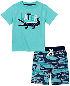 Baby Boys 2-Pc. Later Gator T-Shirt & Shorts Set