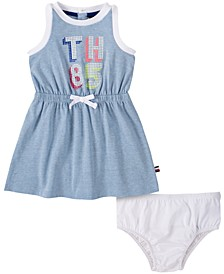 Baby Girls Logo Tank Dress & Diaper Cover Set