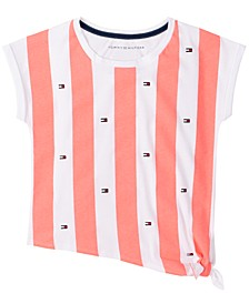 Big Girls Striped Side-Knot T-Shirt