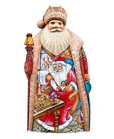 Woodcarved Hand Painted Christmas Workshop Figurine