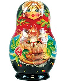 Kitty Kats 5 Piece Russian Matryoshka Nested Dolls Set