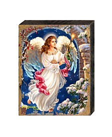 by Dona Gelsinger Angel-In-The-Arch Wooden Block