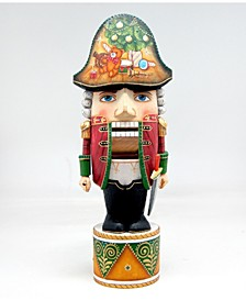 Woodcarved Hand Painted Nutcracker Masquerade Figurine