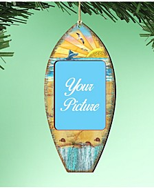 Surfboard Picture Frame Ornament Set of 2