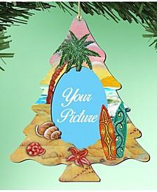 Coastal Christmas Tree Picture Ornament Set of 2