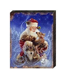 by Dona Gelsinger Santa Little Friends Wooden Block
