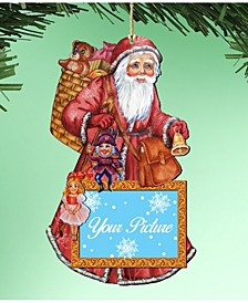 Santa Picture Ornament Set of 2