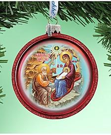 Orthodox Nativity Glass Ornament Hand Painted Glass Ornament
