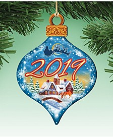 2019 Dated Wooden Christmas Ornament, Set of 2