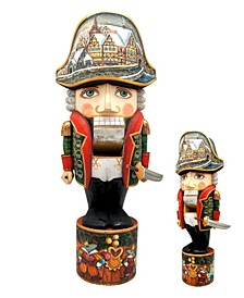 Woodcarved Hand Painted Nutcracker Soldier Large Figurine