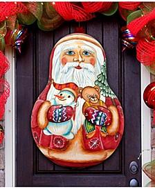 Santa Doll Door Hanger